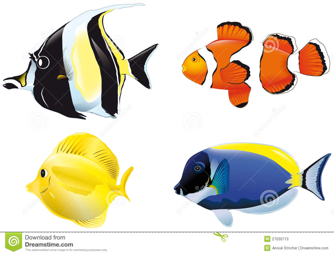 Poissons tropicaux illustration de vecteur illustration for Poisson tropicaux pour aquarium
