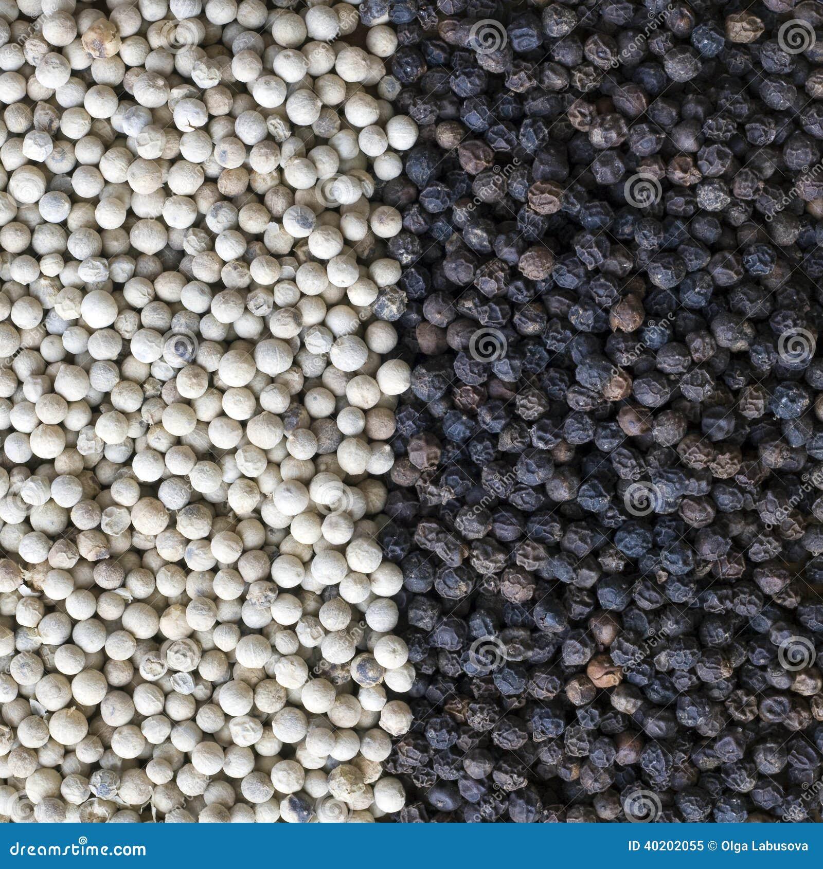 poivre noir ou blanc