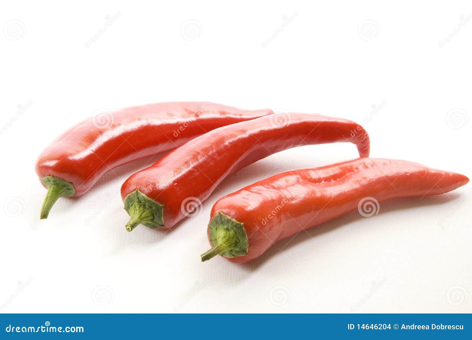Poivre de /poivron d un rouge ardent