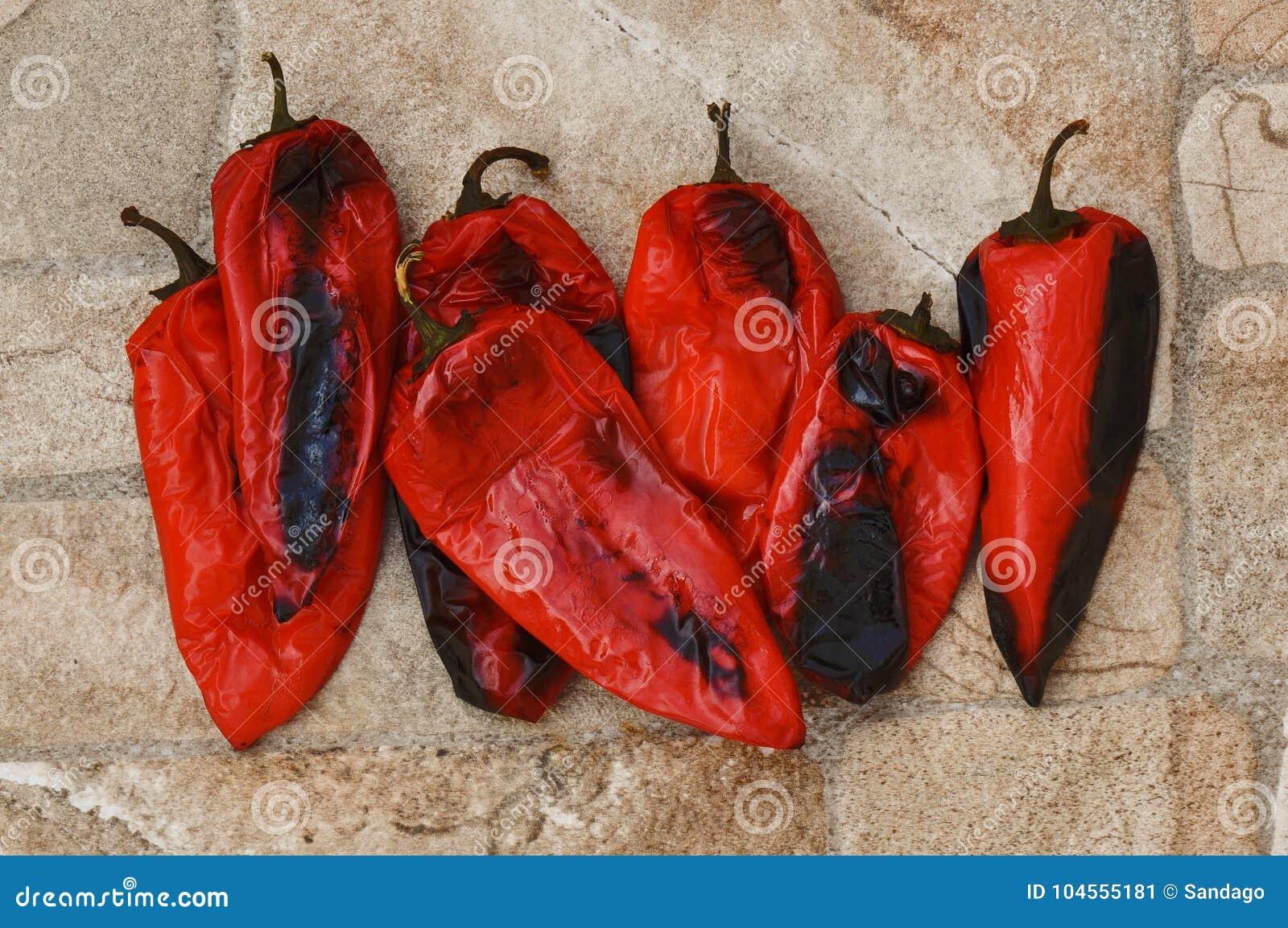 Poivrons cuits au four