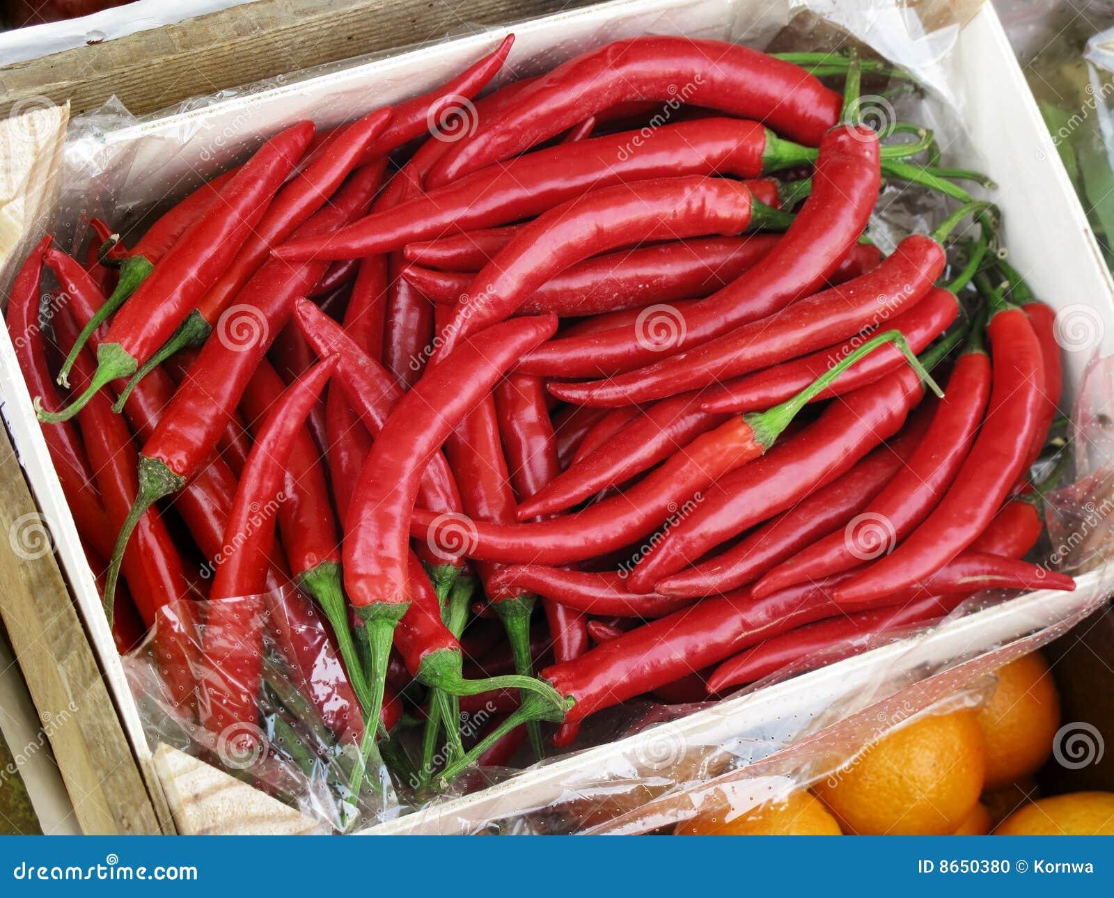 Poivrons de /poivron d un rouge ardent