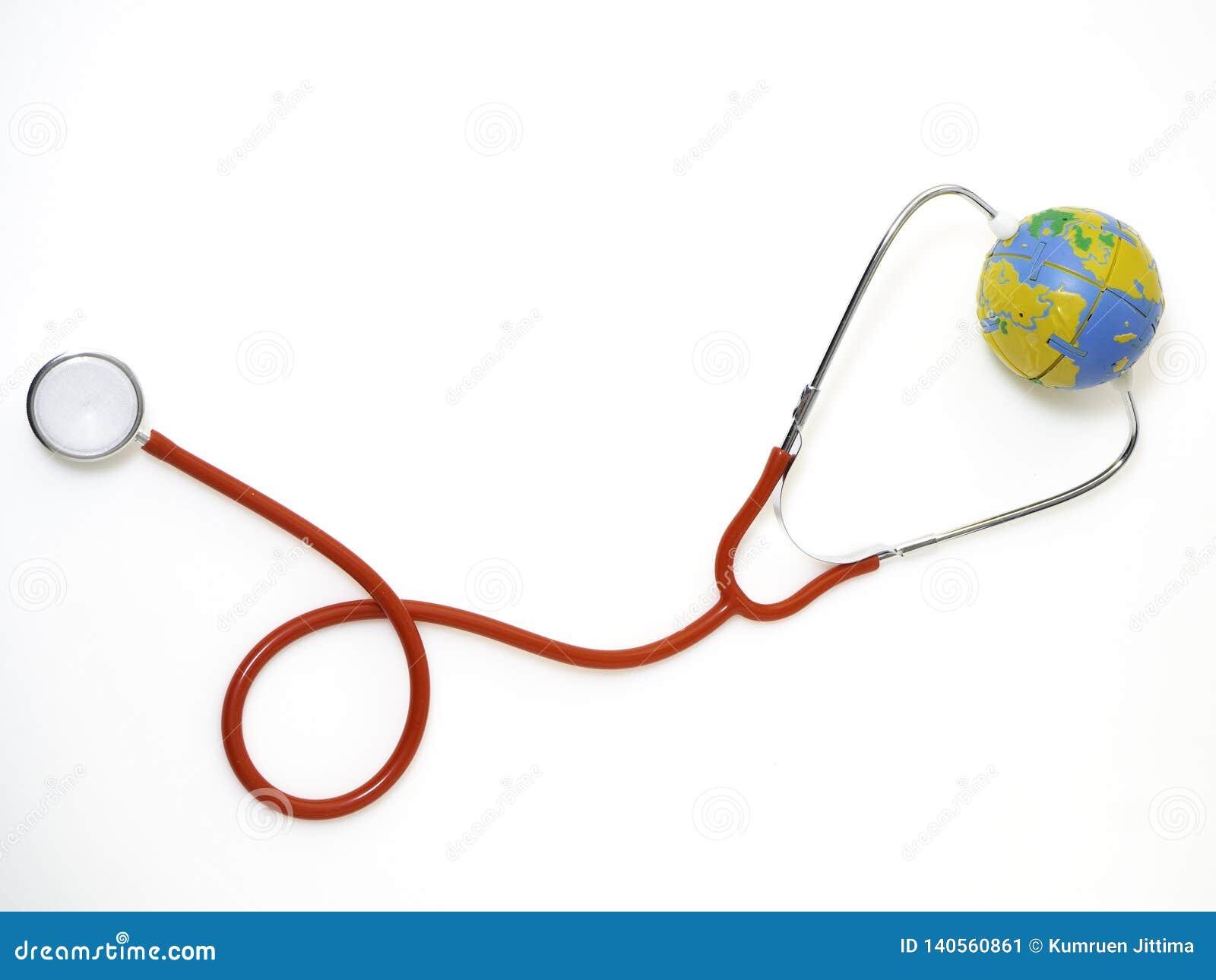 Pojęć światowych zdrowie dzień, Czerwony stetoskop