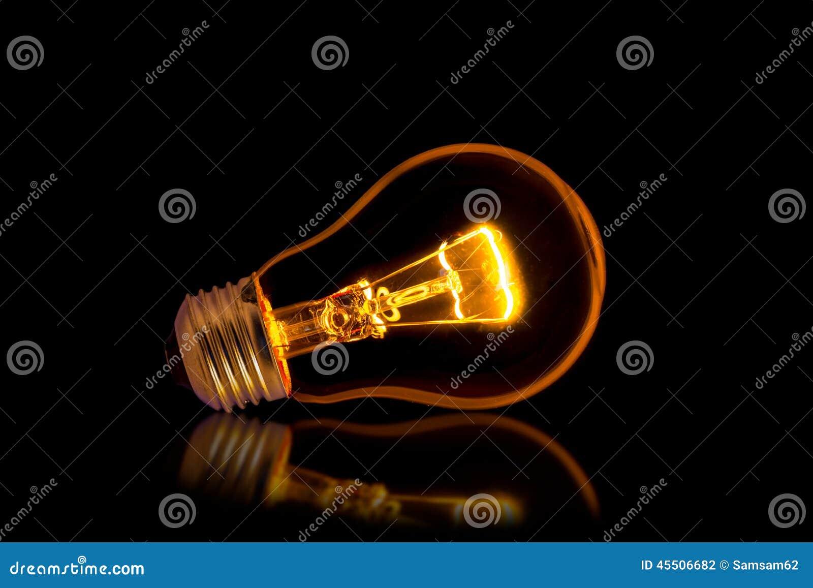 Pojęcia żarówki pomysł ilustracji światła wektora