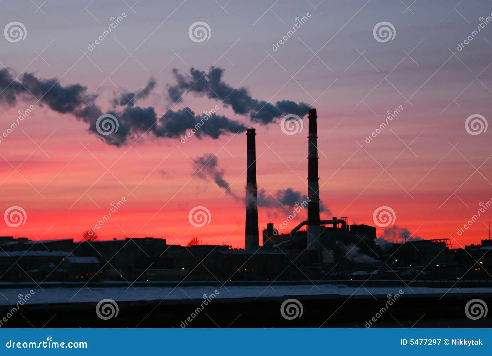 Pojęcia dymu komina globalnego ocieplenia