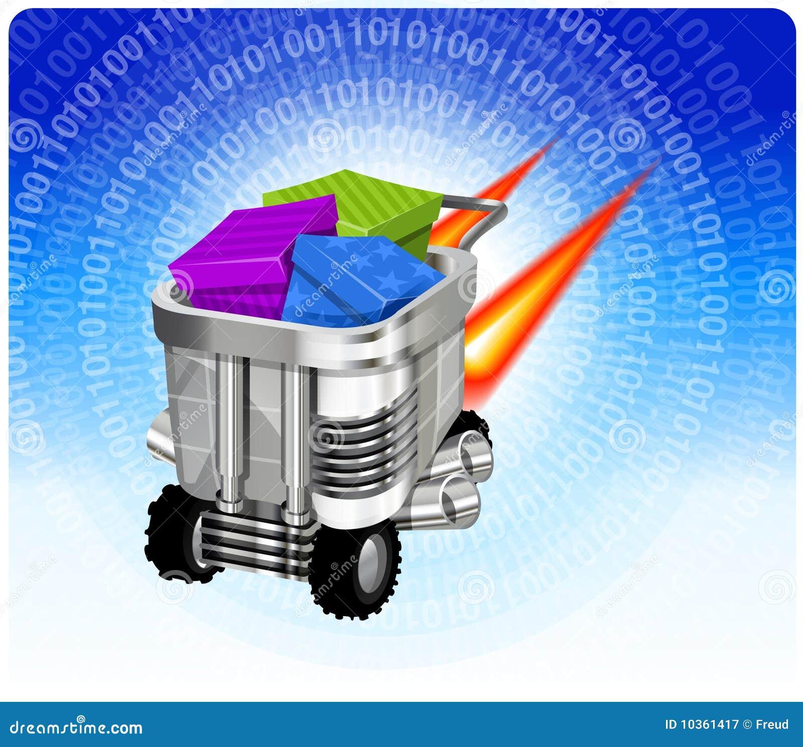 Pojęcia handel elektroniczny postu poruszająca technologia