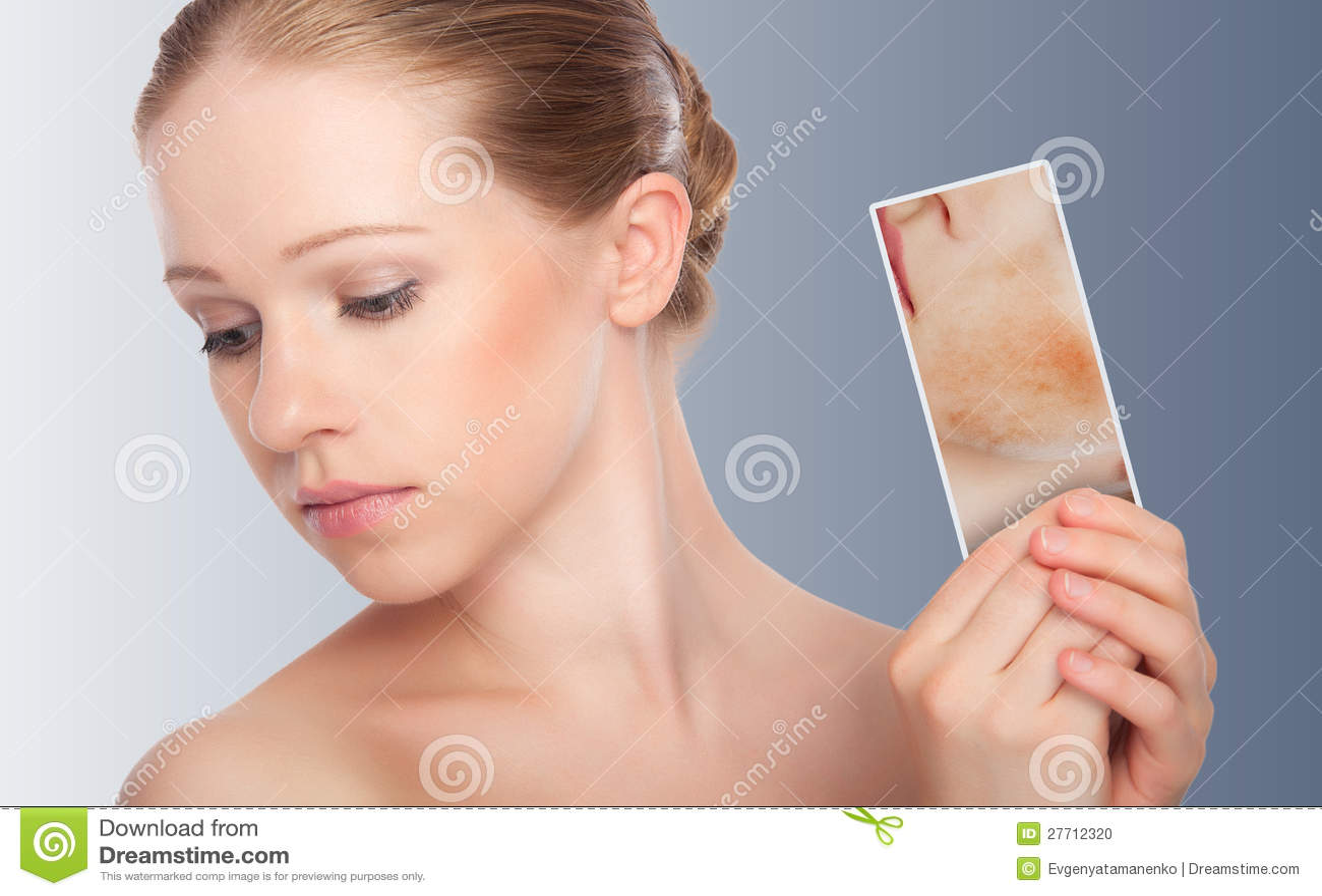 Pojęcia skincare. Skóra piękno kobieta