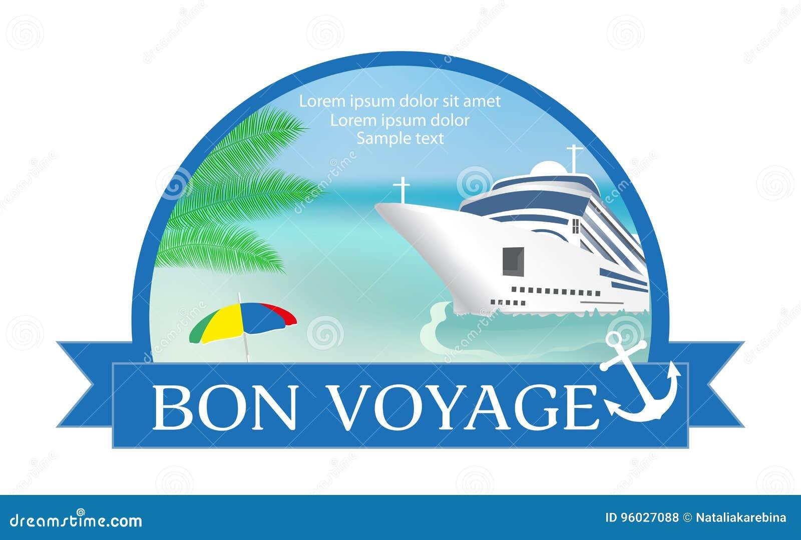 Pojęcie dla reklamować podróż na statku wycieczkowym z  bonem Voy