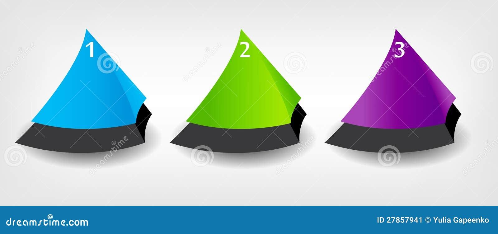 Pojęcie kolorowi sztandary dla różnego biznesu