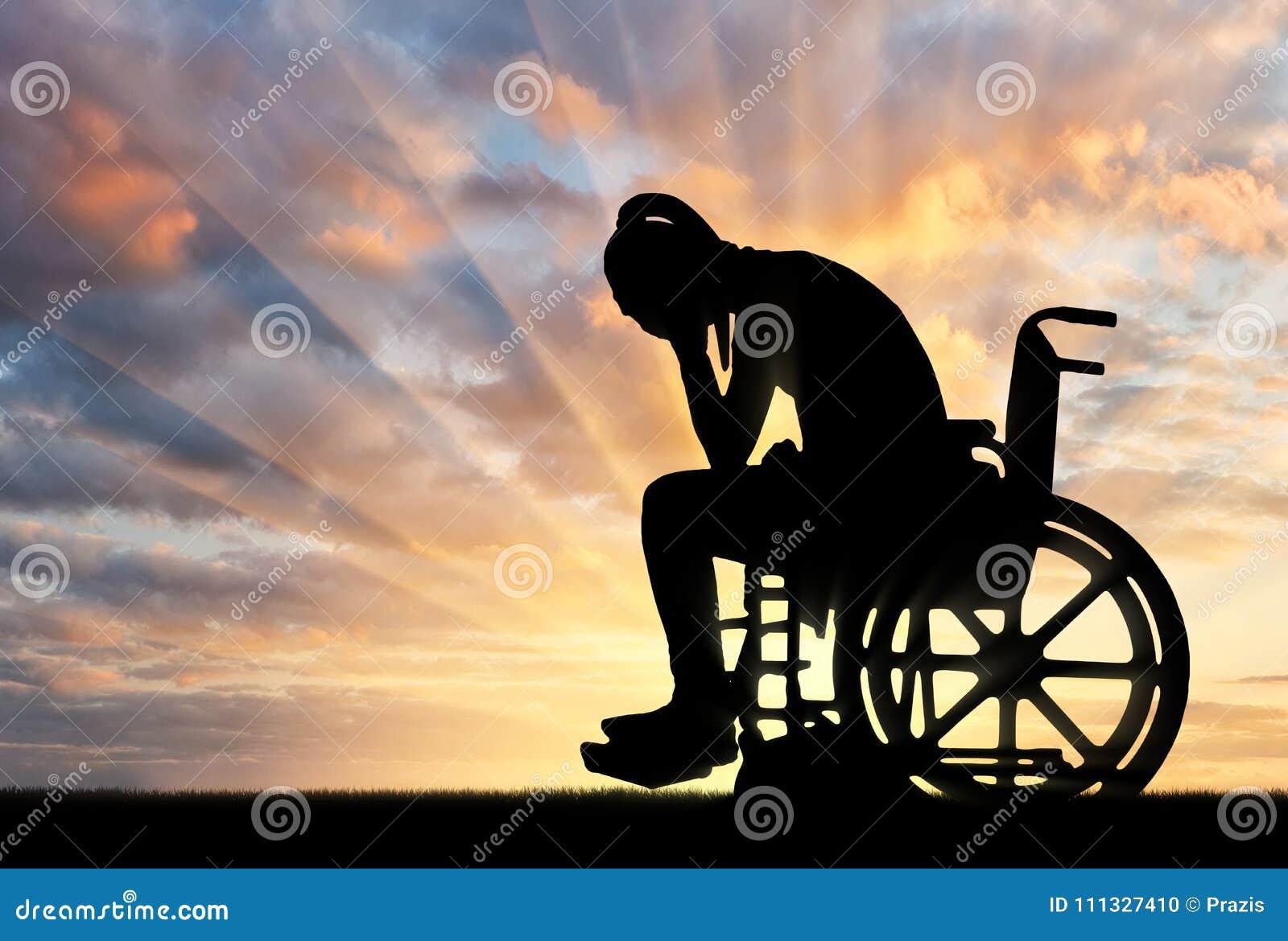 Pojęcie ludzie doświadcza żal dla straty zdrowie z kalectwami