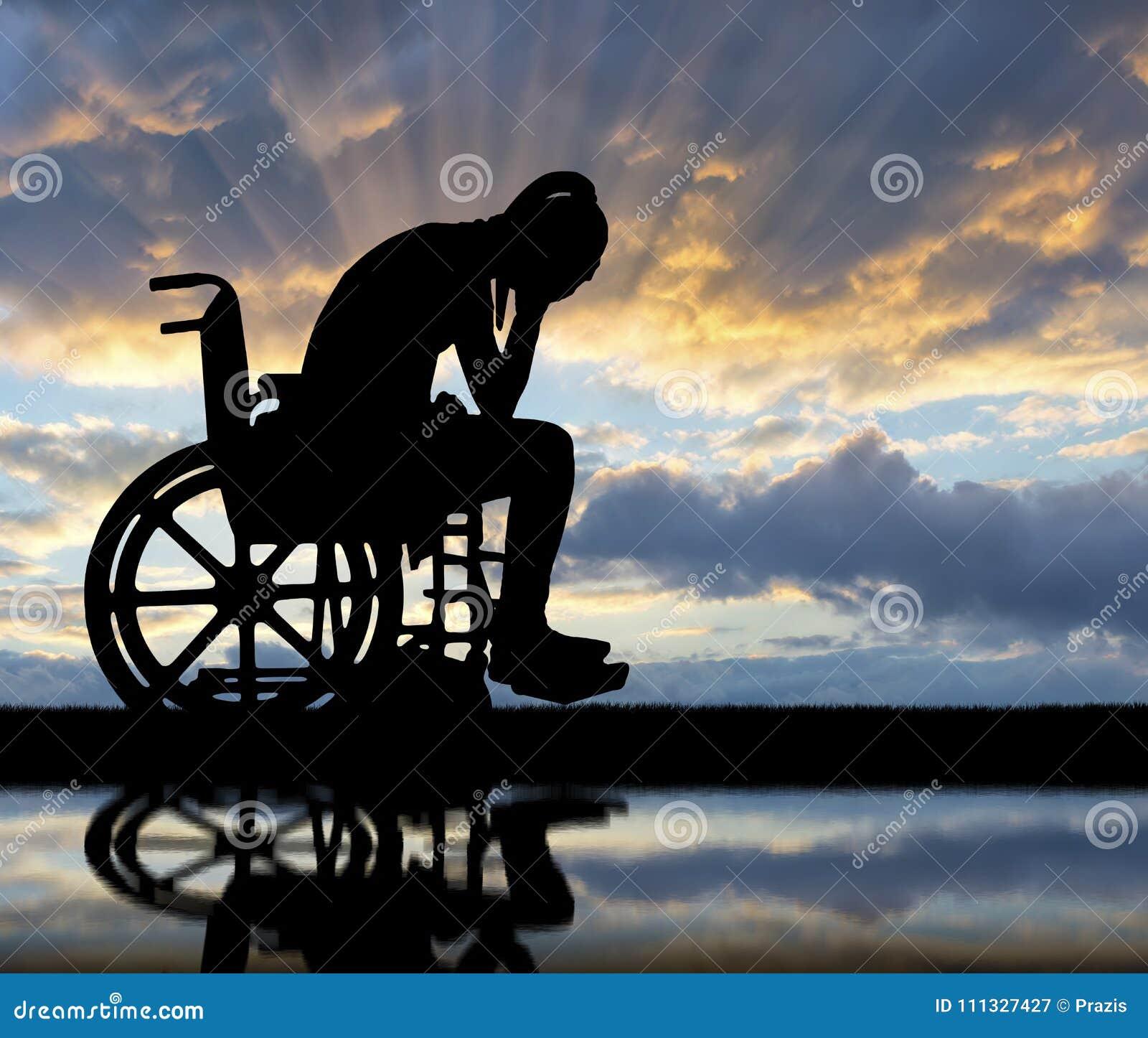 Pojęcie ludzie doświadcza żal i smucenie z kalectwami