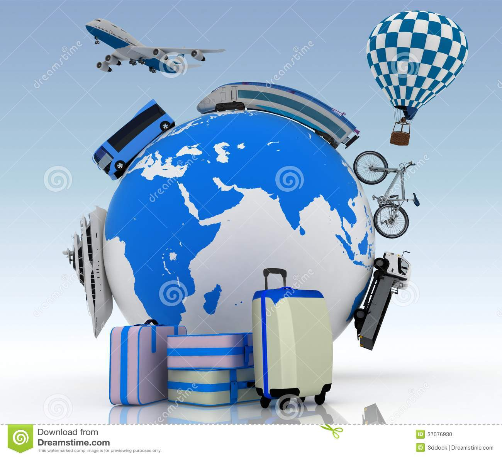 Download Pojęcie Międzynarodowa Turystyka Ilustracji - Ilustracja złożonej z render, tło: 37076930