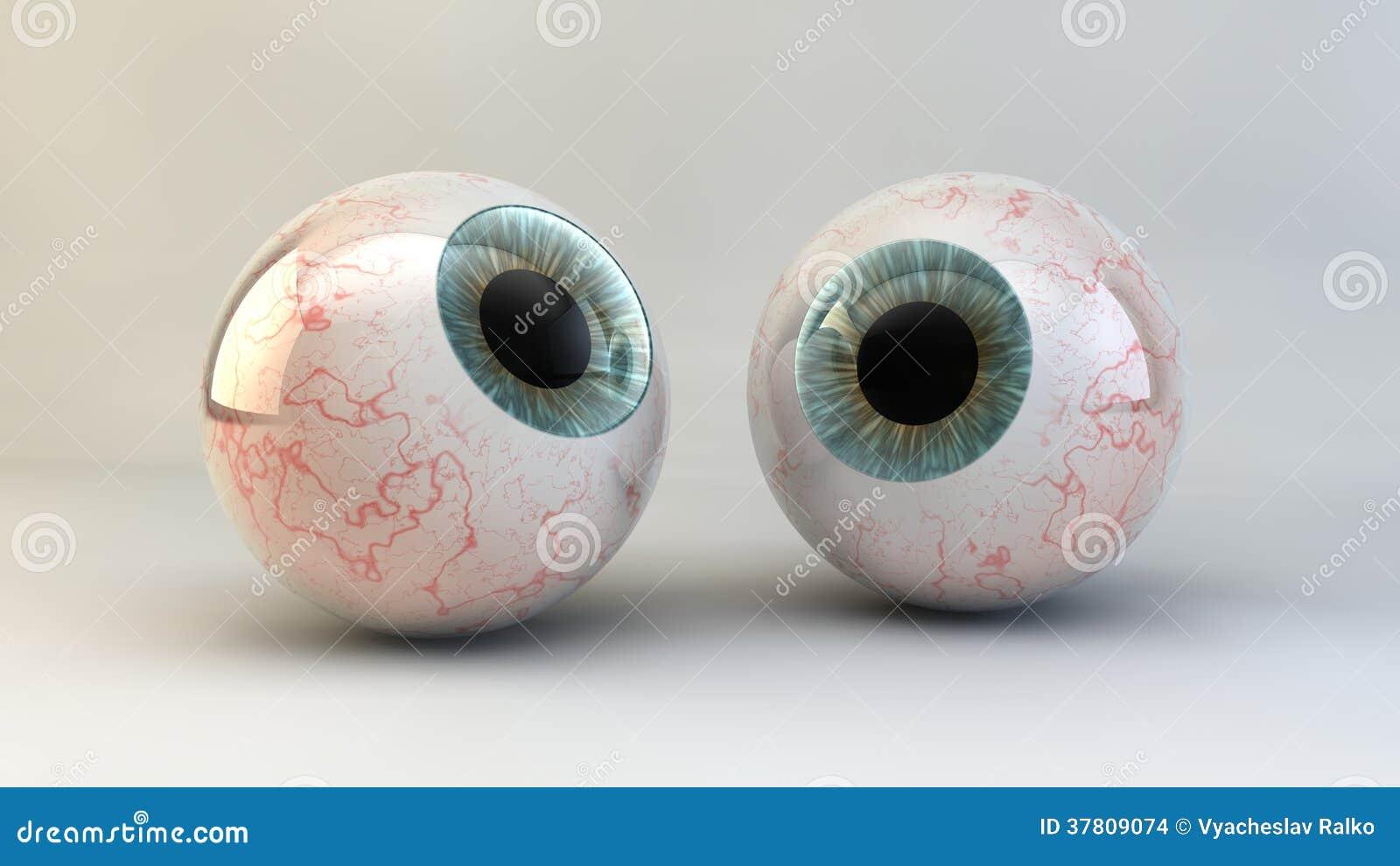 Pojęcie oko na białym tle.