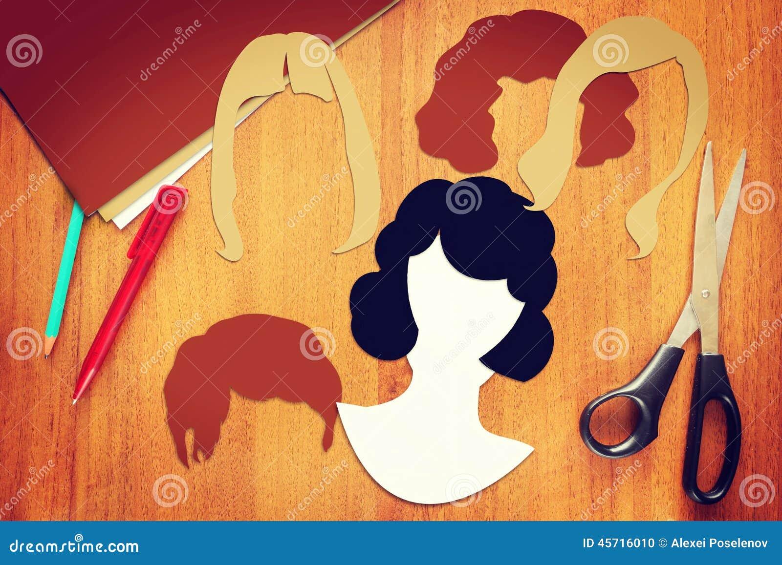 Pojęcie różnorodni żeńscy ostrzyżenia