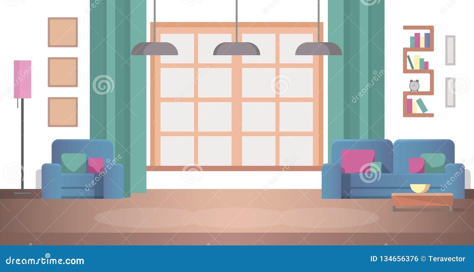 Pojęcie widoku Desing Wewnętrzny Żywy pokój w domu