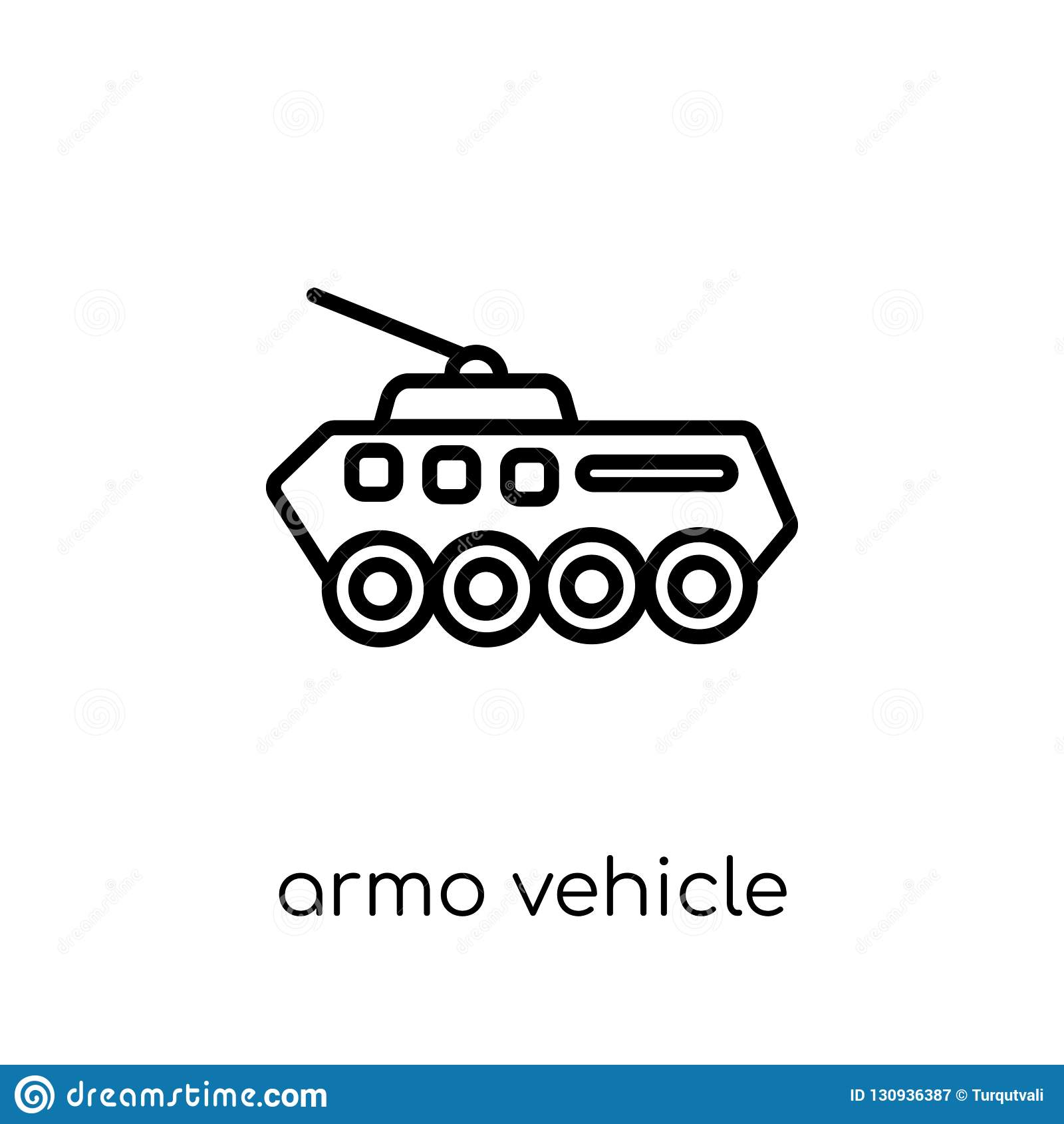 Pojazd Pancerny ikona od wojsko kolekcji
