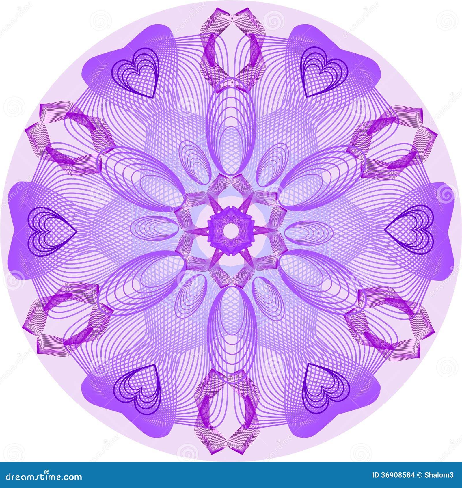 Pojedynczy purpurowy mandala