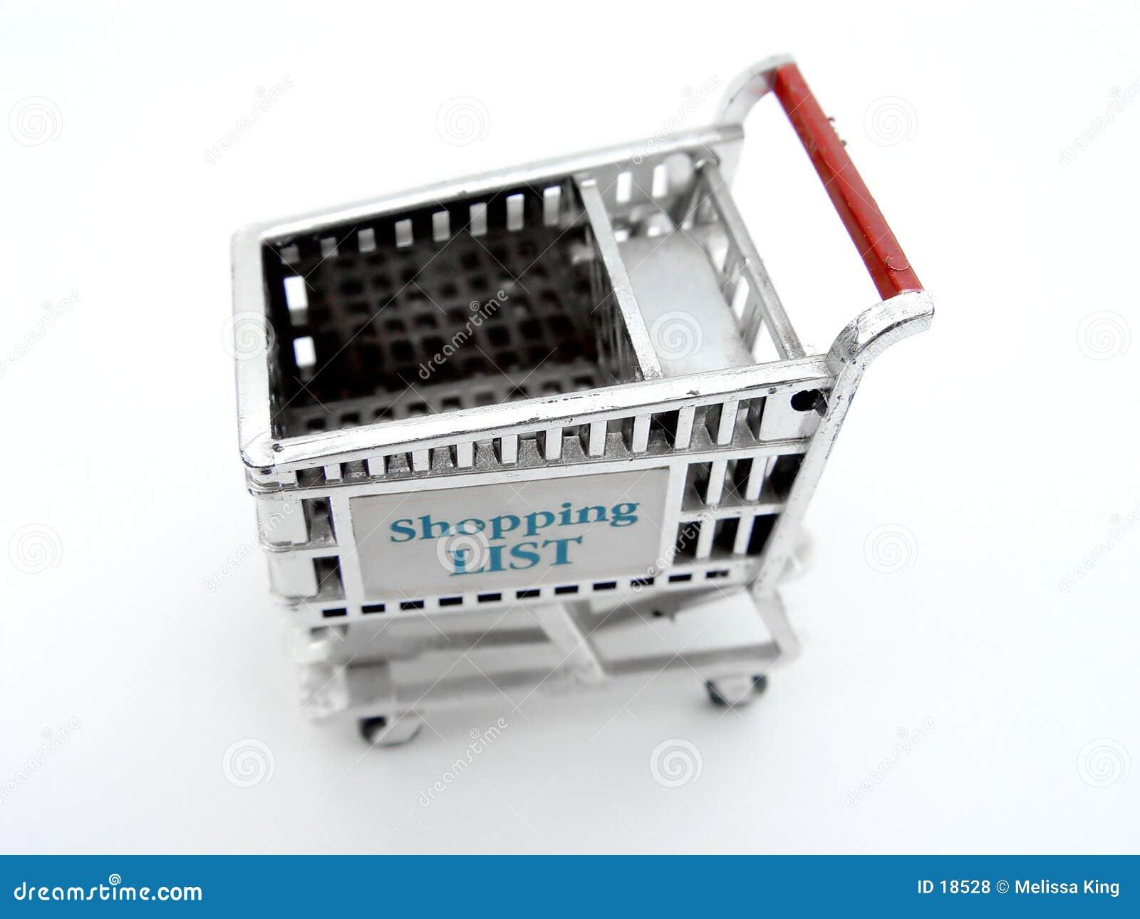 Pojedynczy wózka na zakupy