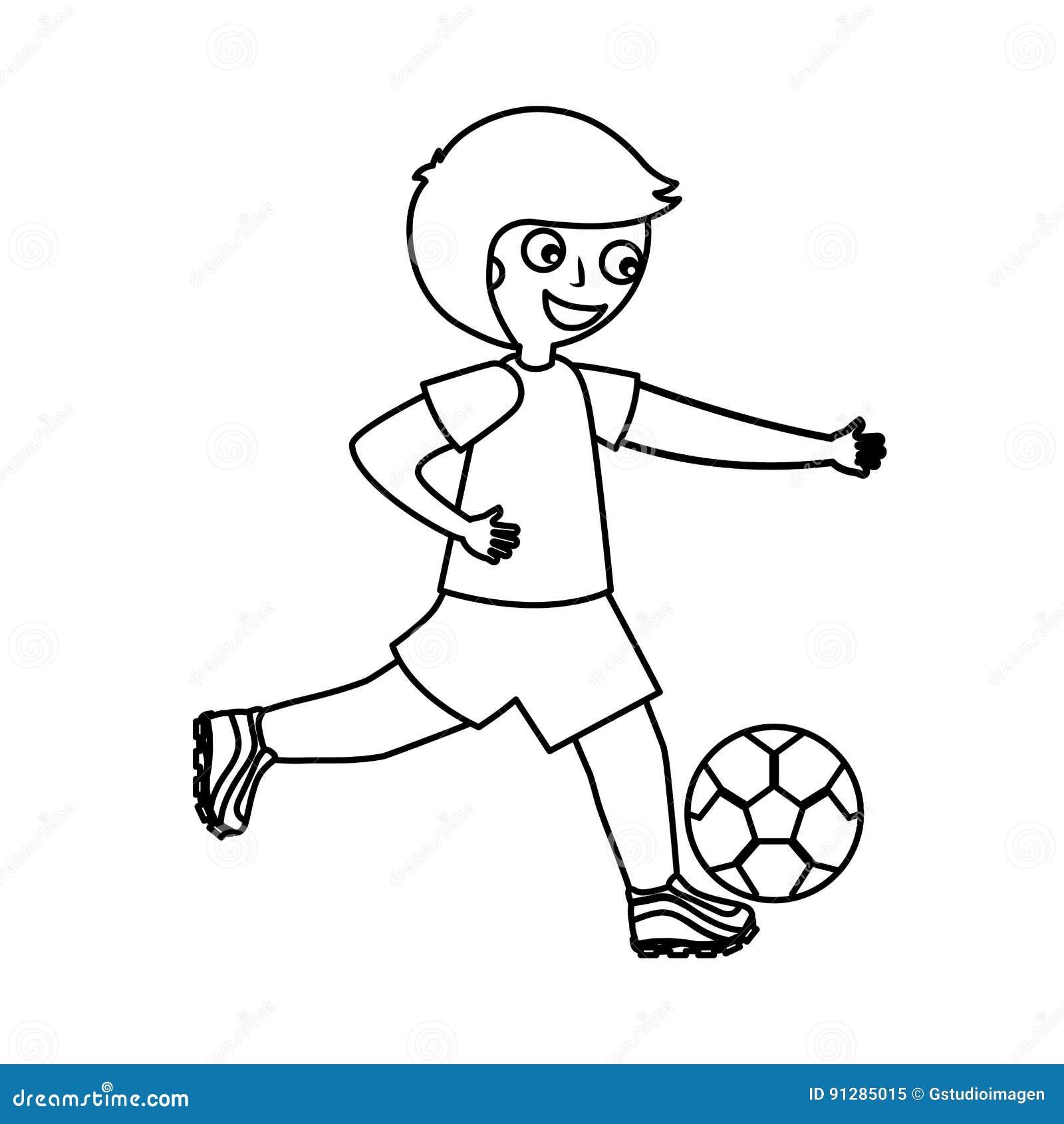 Pojke little leka fotboll