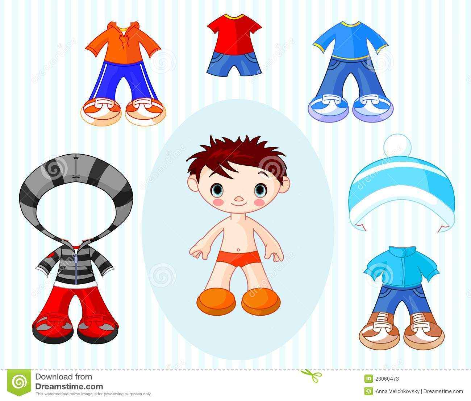 Pojke med kläder