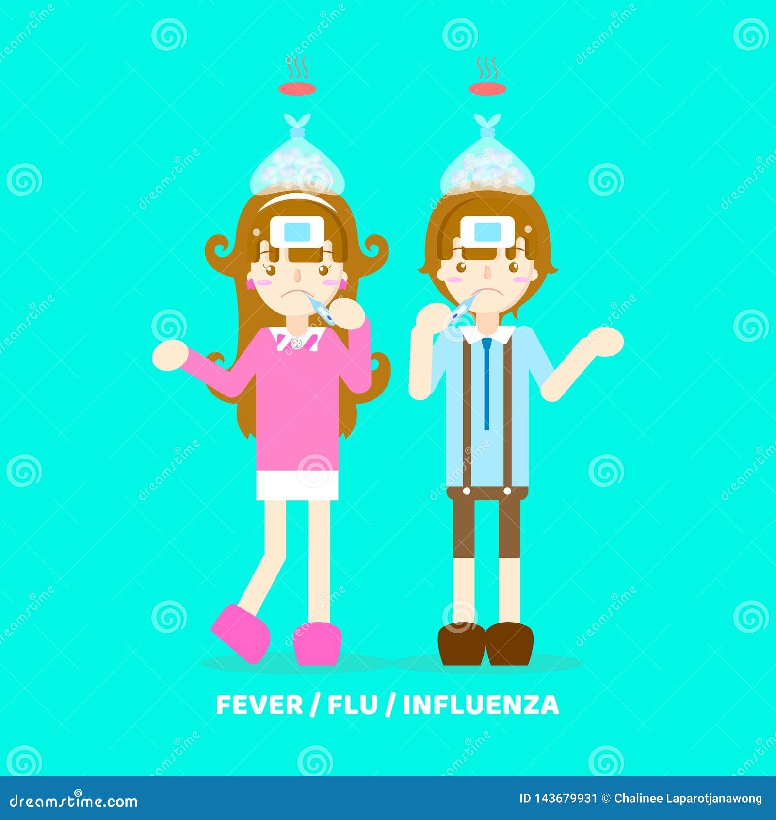 influensa med feber