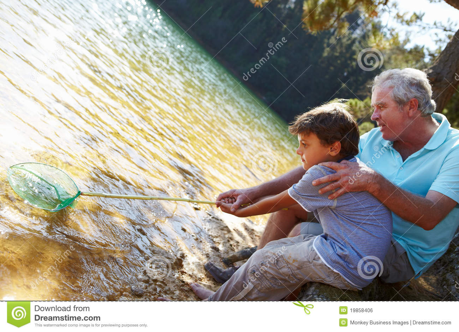 Pojkefiskeman tillsammans