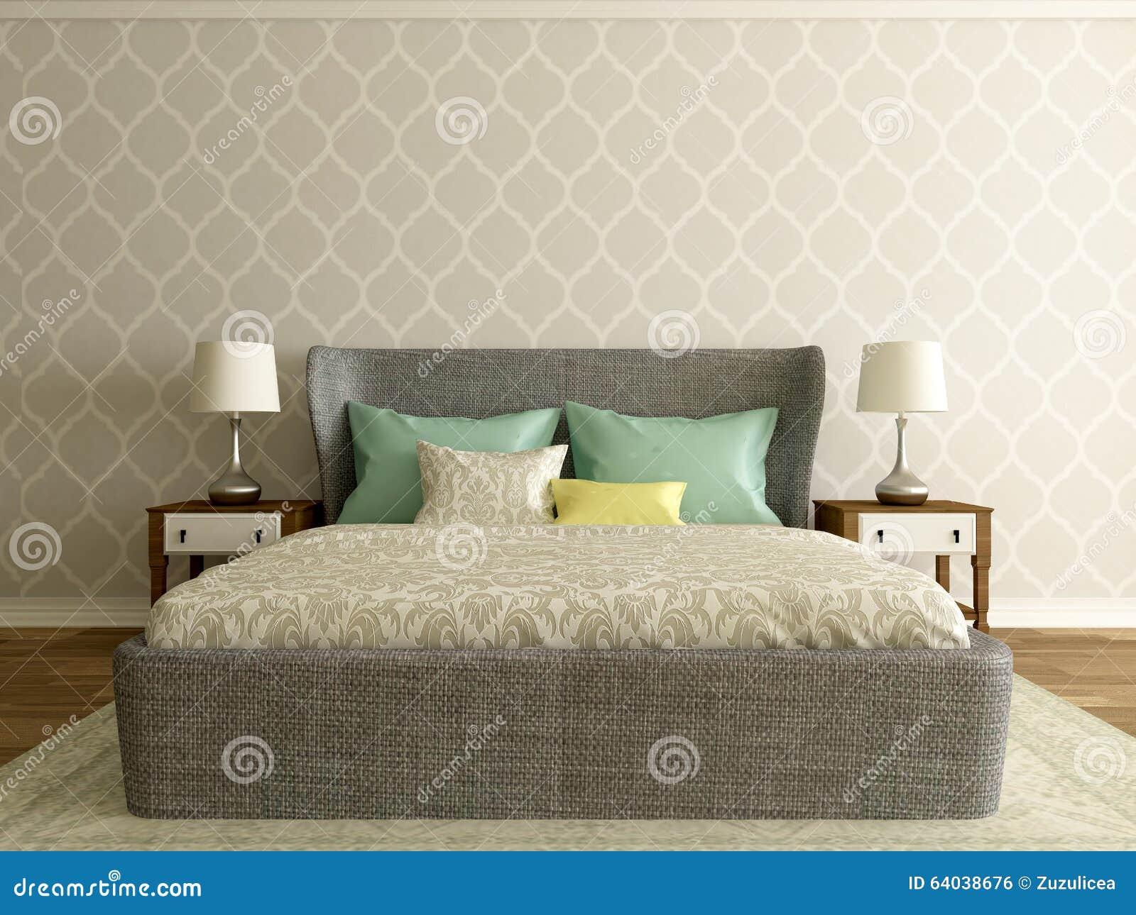 Pokój hotelowy, sypialni wnętrze, nowożytny pokój