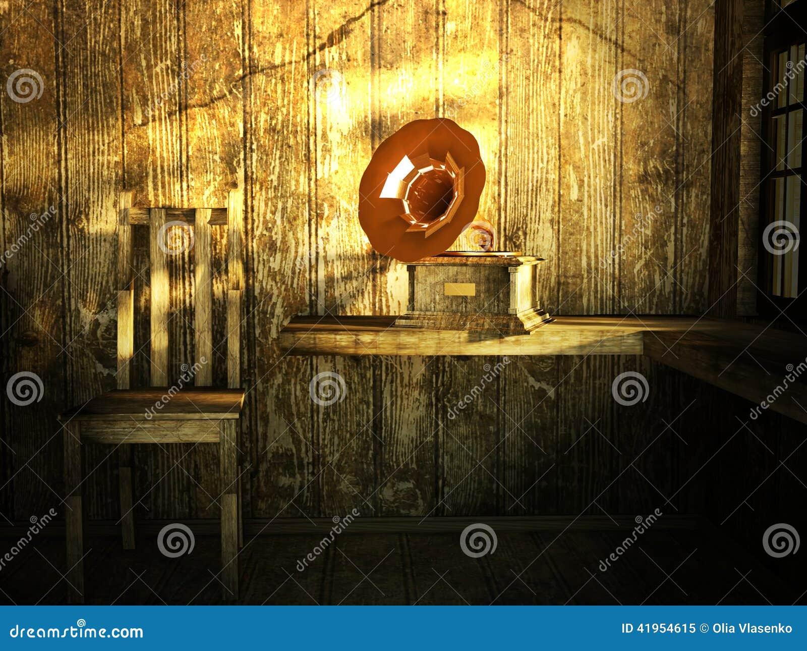 Pokój z drewnianym podstrzyżeniem