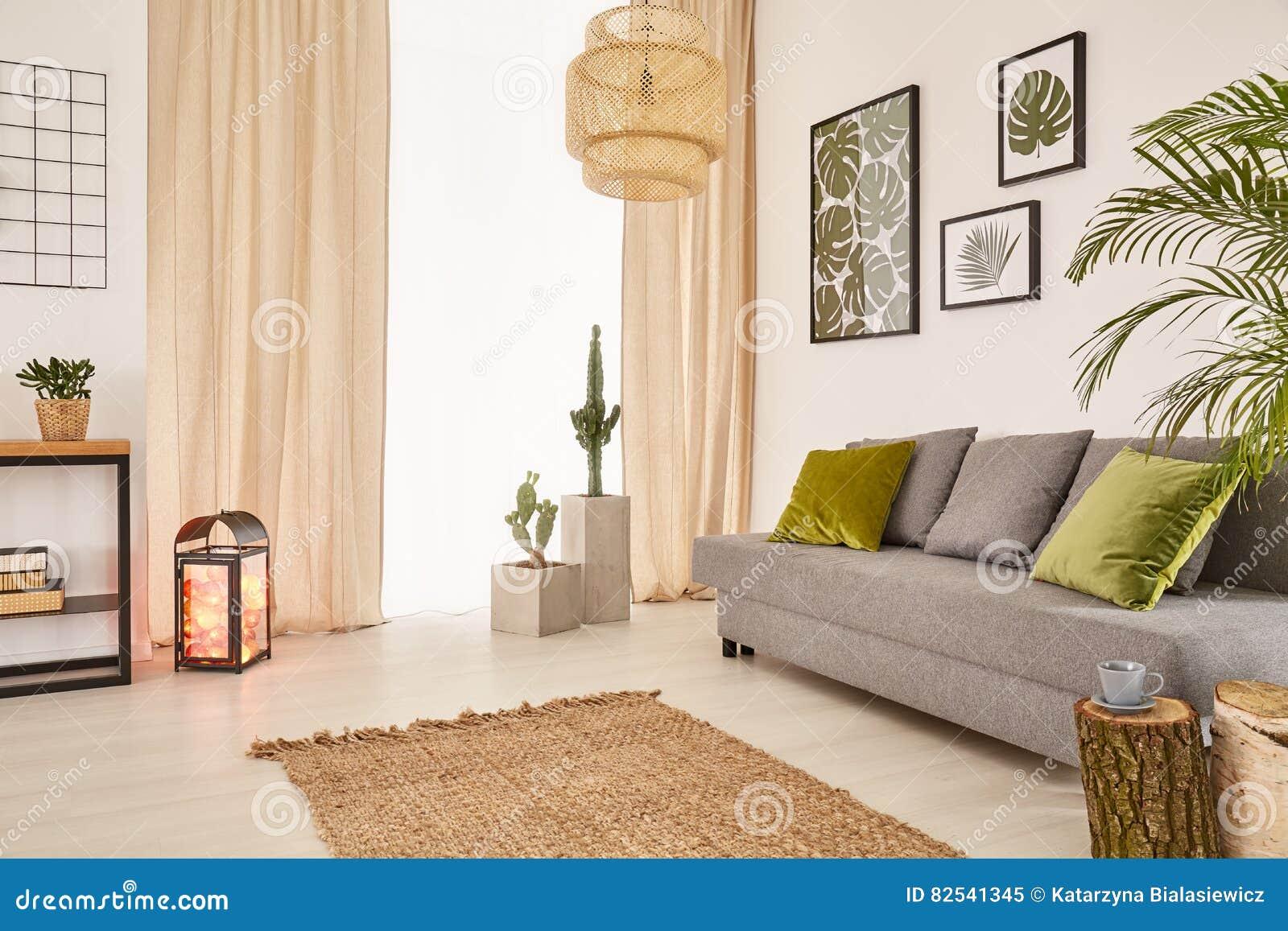 Pokój z kanapą i okno