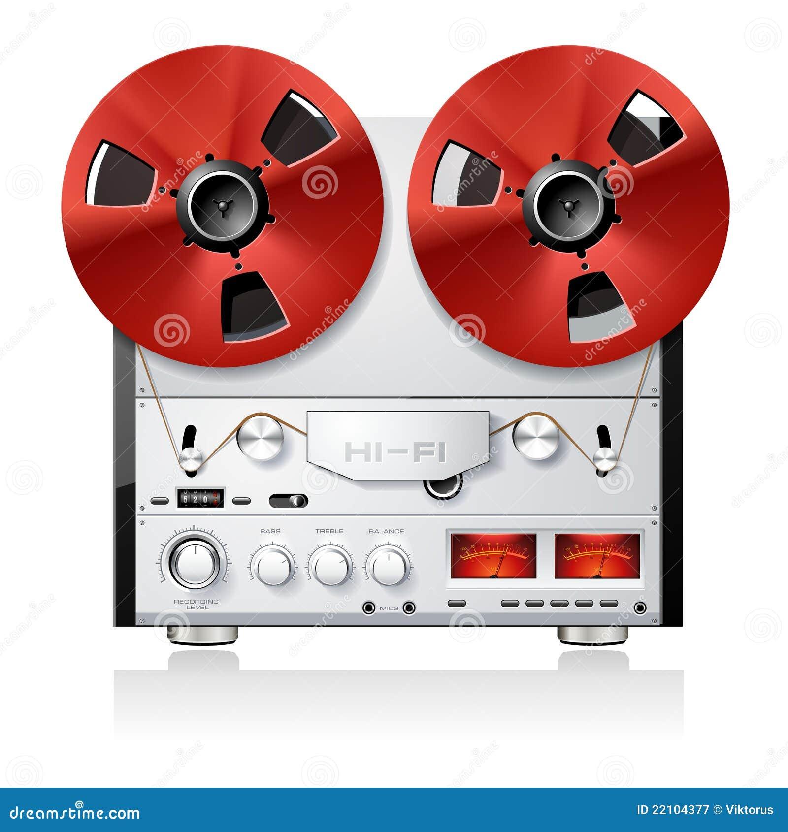 Pokładu pisaka rolki stereo taśma rocznik