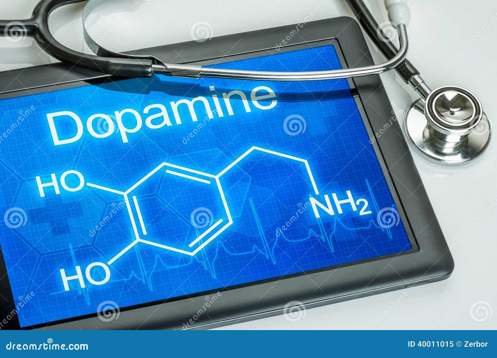 Pokaz z chemiczną formułą dopamine