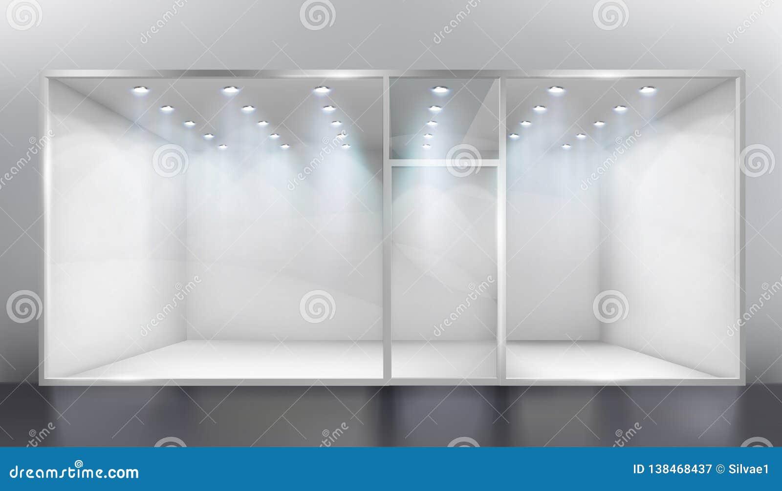 Pokazu okno Opróżnia sklep również zwrócić corel ilustracji wektora