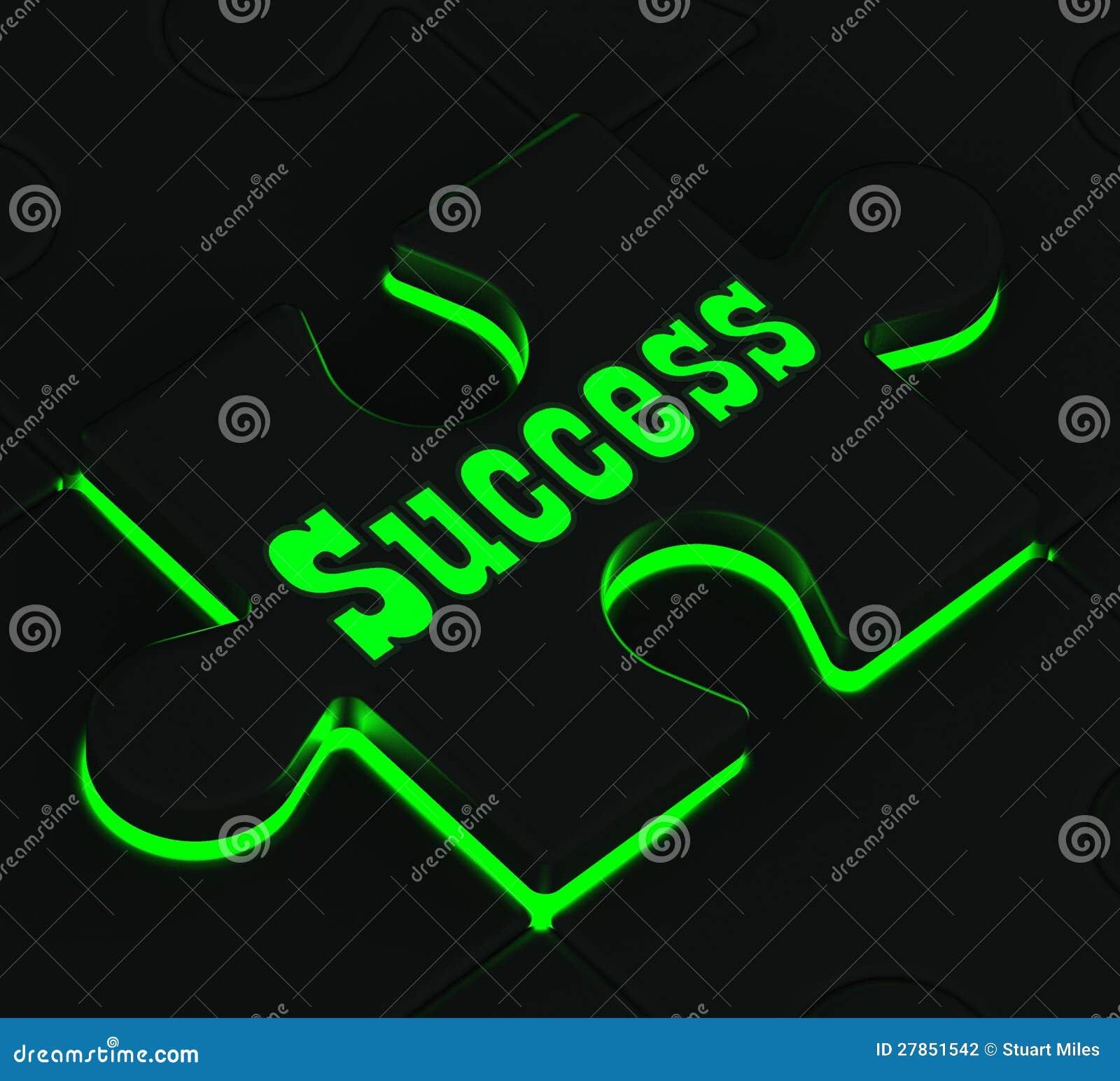 Pokazywać Pomyślnych Osiągnięcia sukces Łamigłówka