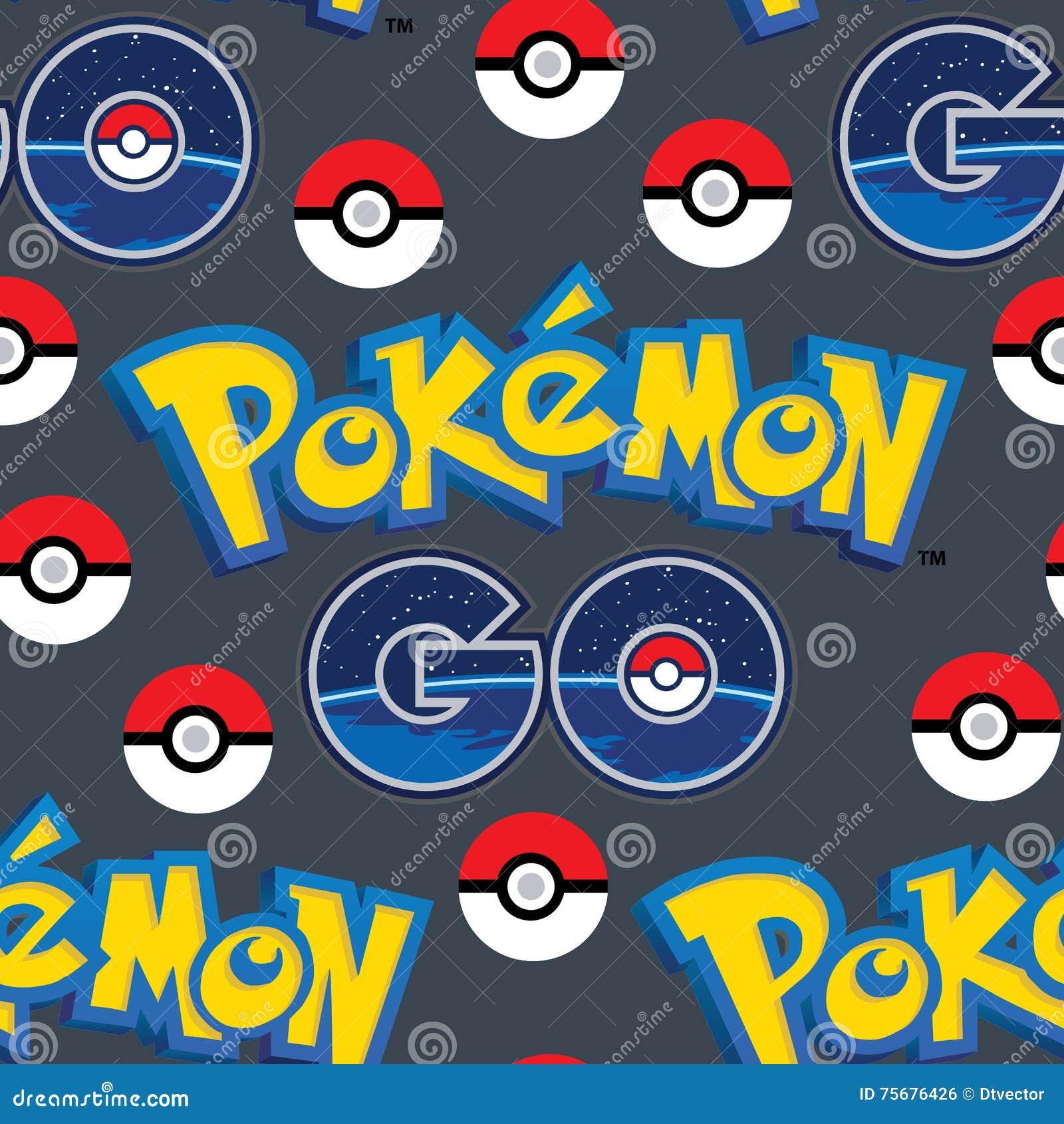 Pokemon连同球无缝的样式