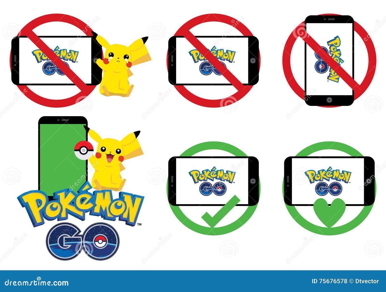 Pokemon идет комплект знака