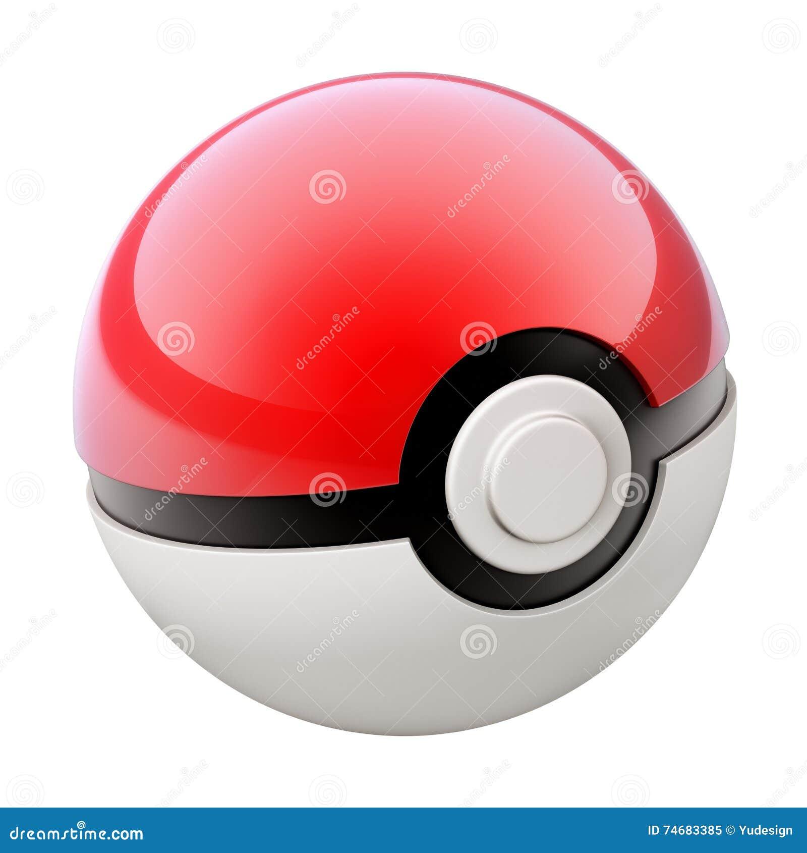 Editorial Image Pokemon Ball Poke Isolated White Background D Illustra