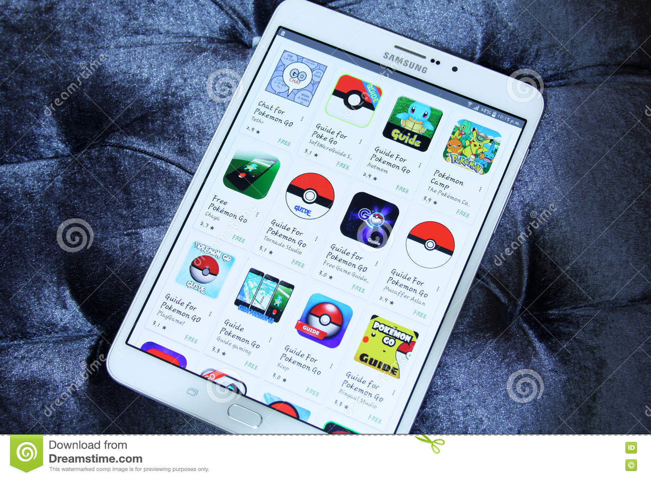 pokemon go apps on google play editorial stock photo - image: 74678458