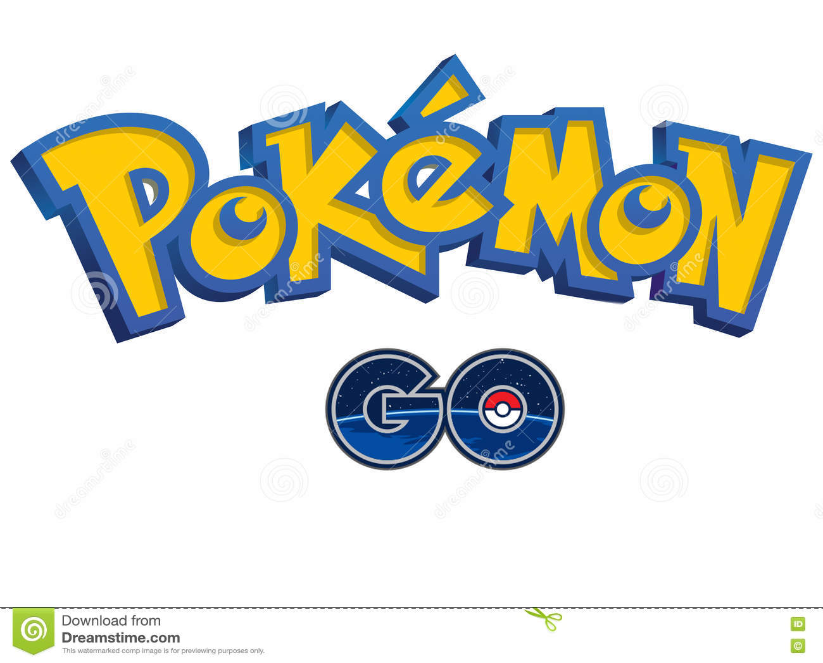 pokemon go logo editorial image image 74377075