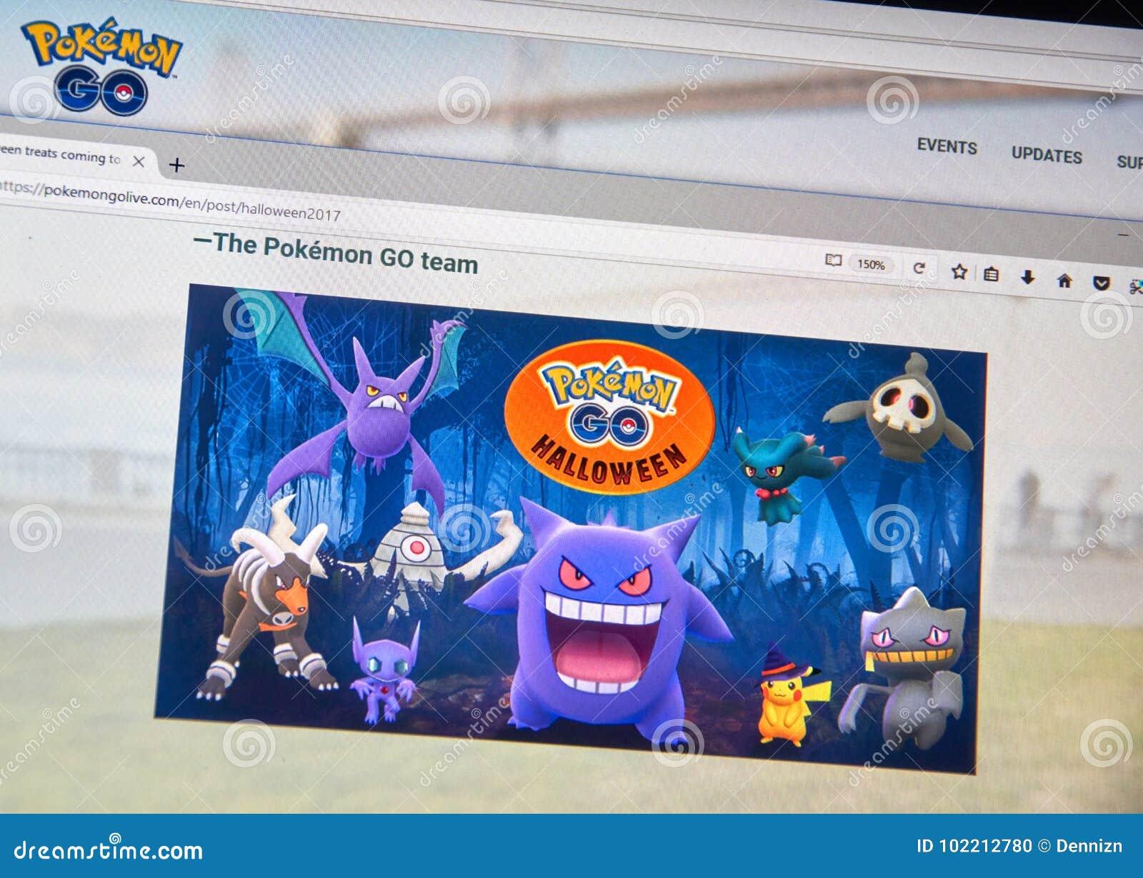 Pokemon Rentrent à La Maison Page De Halloween Image éditorial ...