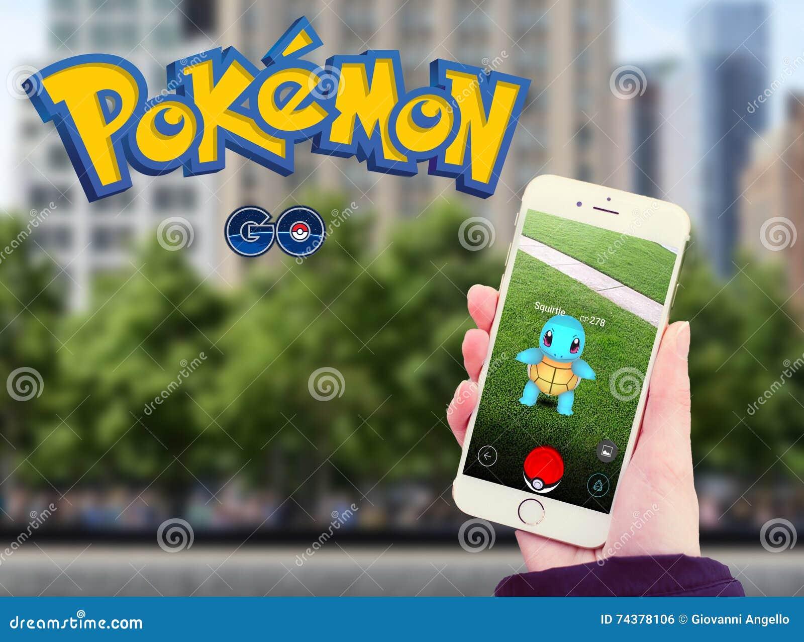 Pokemon va in cellulare con il logo