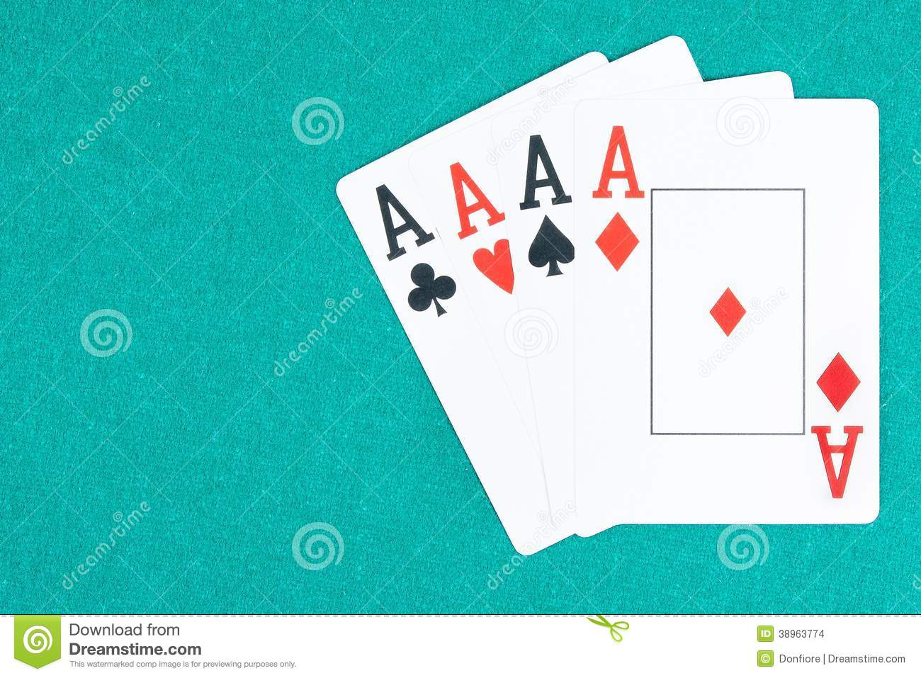 neon green aces cards poker games