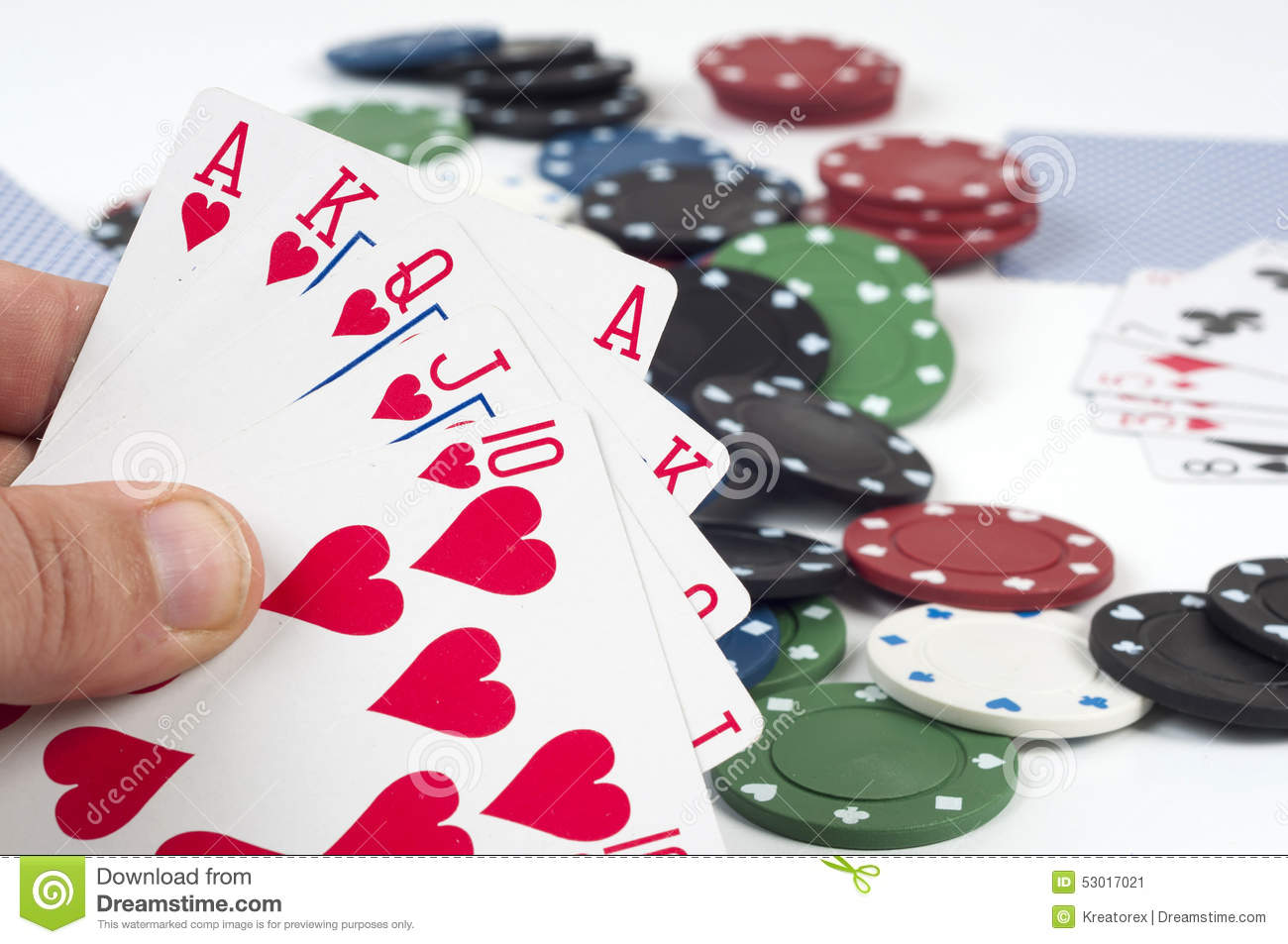 Poker and betting stock image. Image of group, color ...