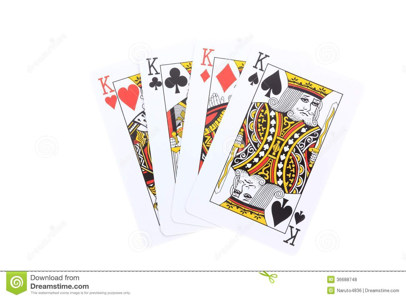 king and aces cards poker pictures