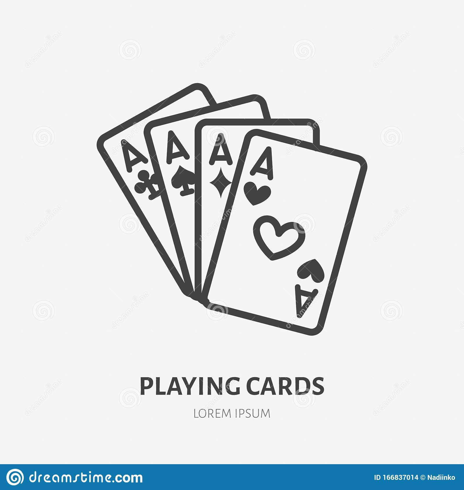 Poker Cards Line Icon Vector Pictogram Of Blackjack Game Four Aces Illustration Casino Gambling Sign Stock Vector Illustration Of Gamble Club 166837014