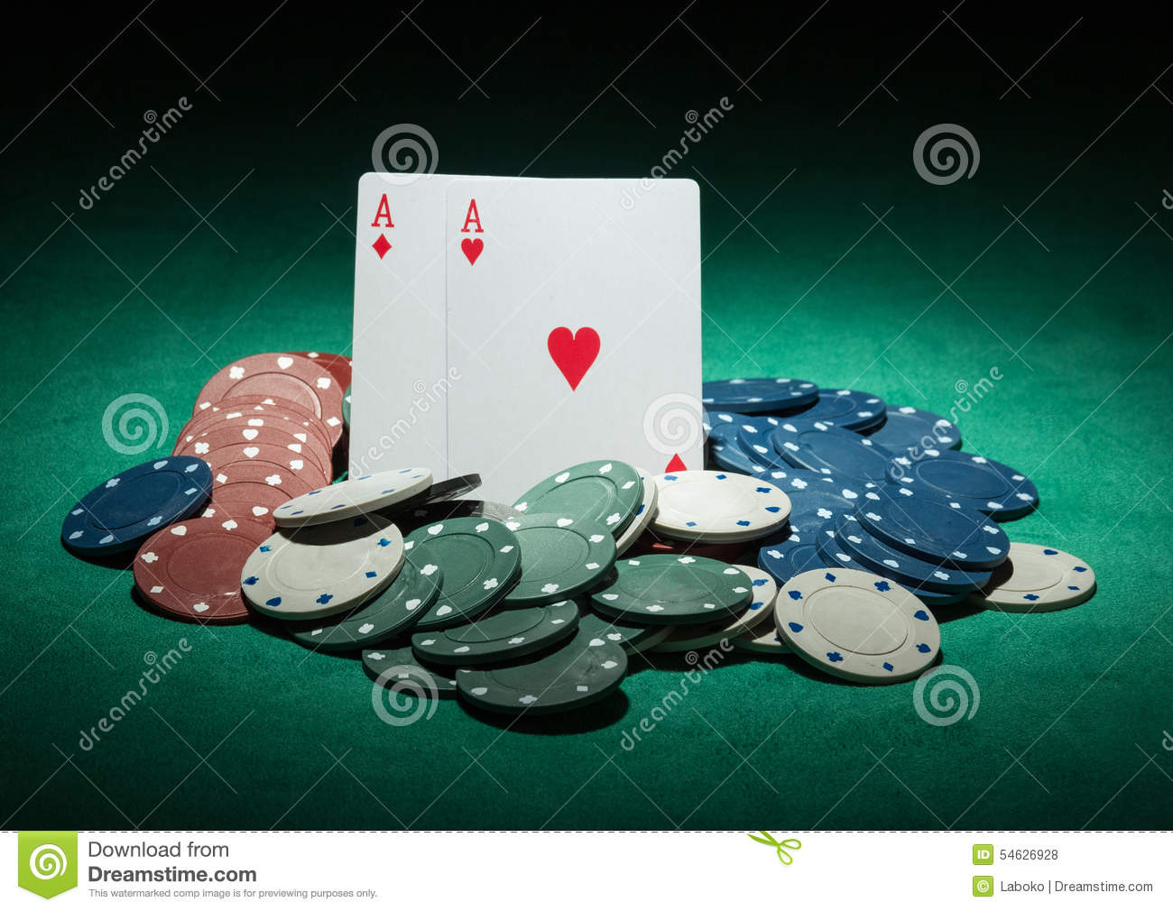king and aces cards poker background