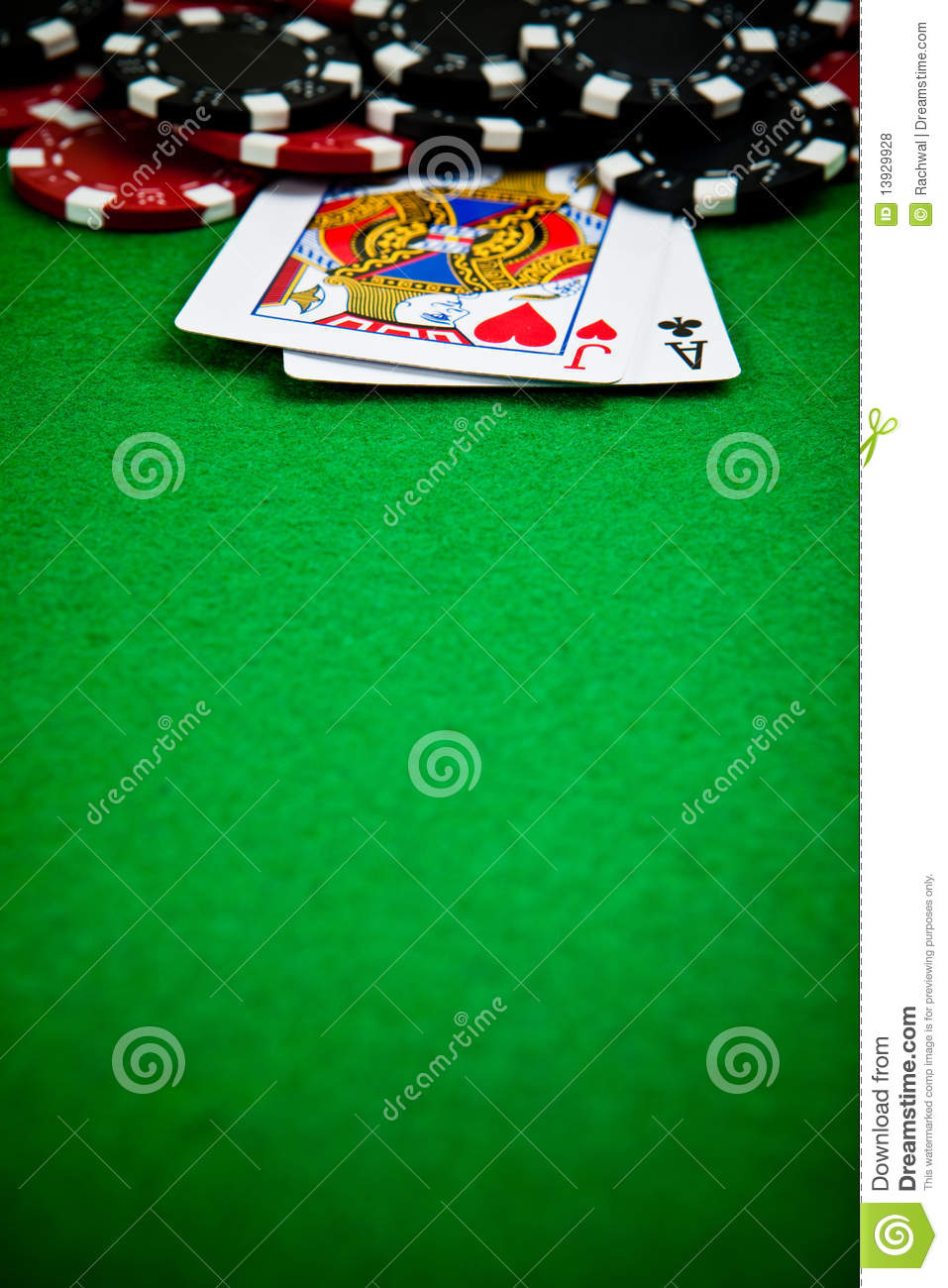 Poker Chips With Cards Royalty Free Stock Photos Image