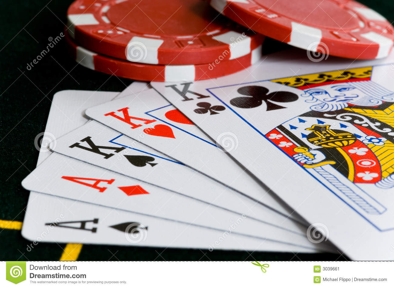 poker chips and cards stock image image 3039661