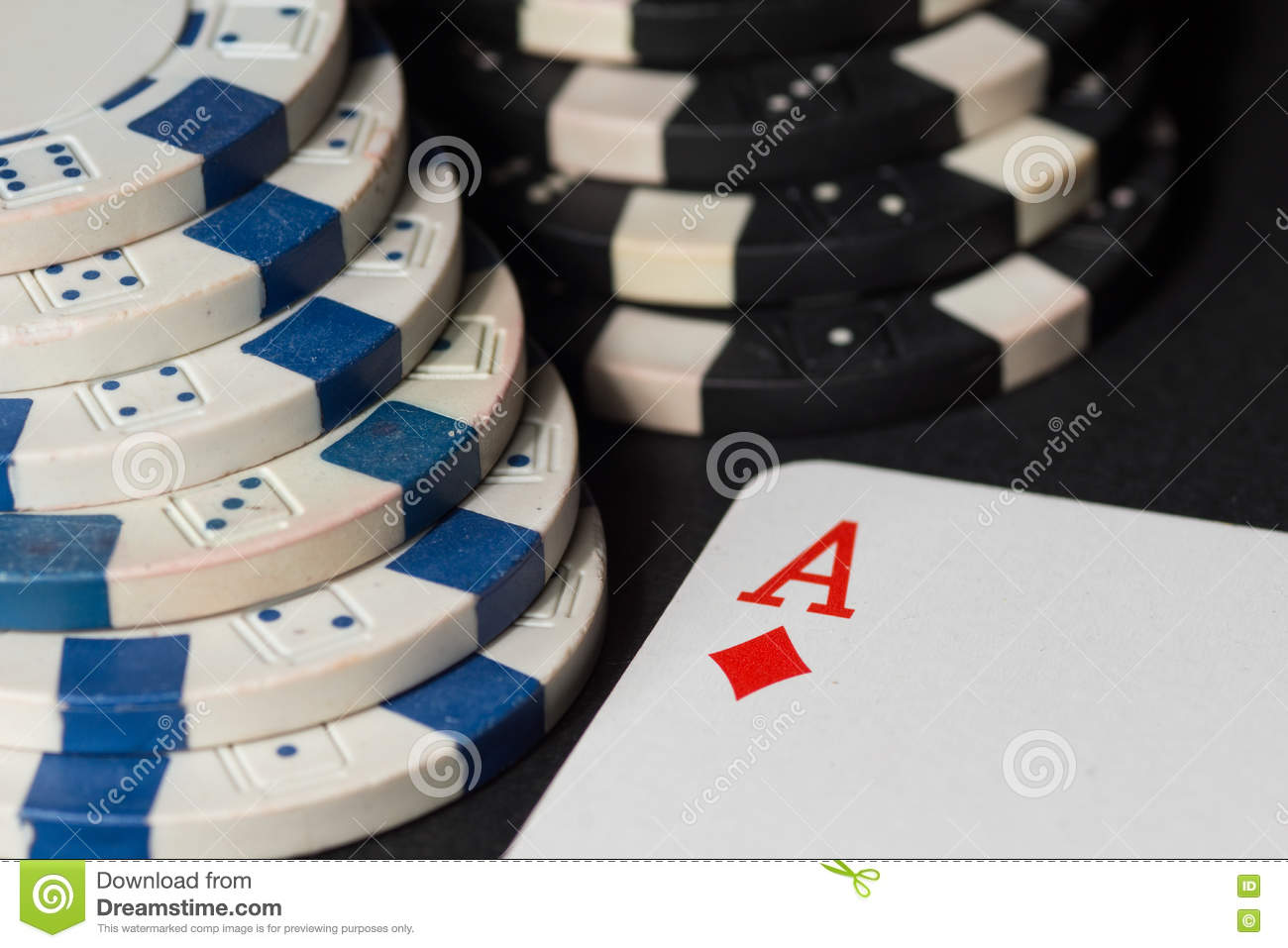 Poker chips and cards. High resolution image.