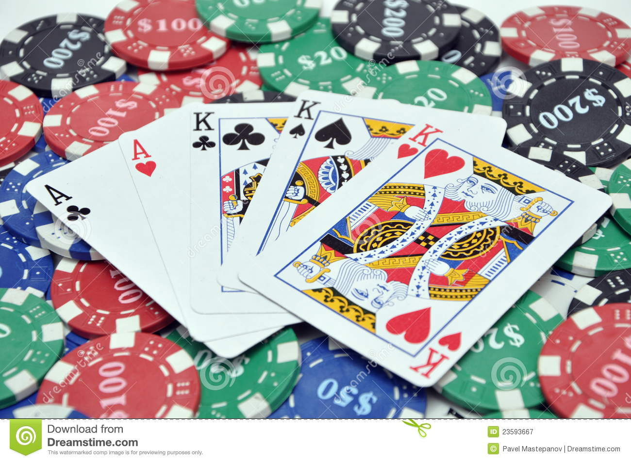 poker chips amp full house cards stock image image 23593667