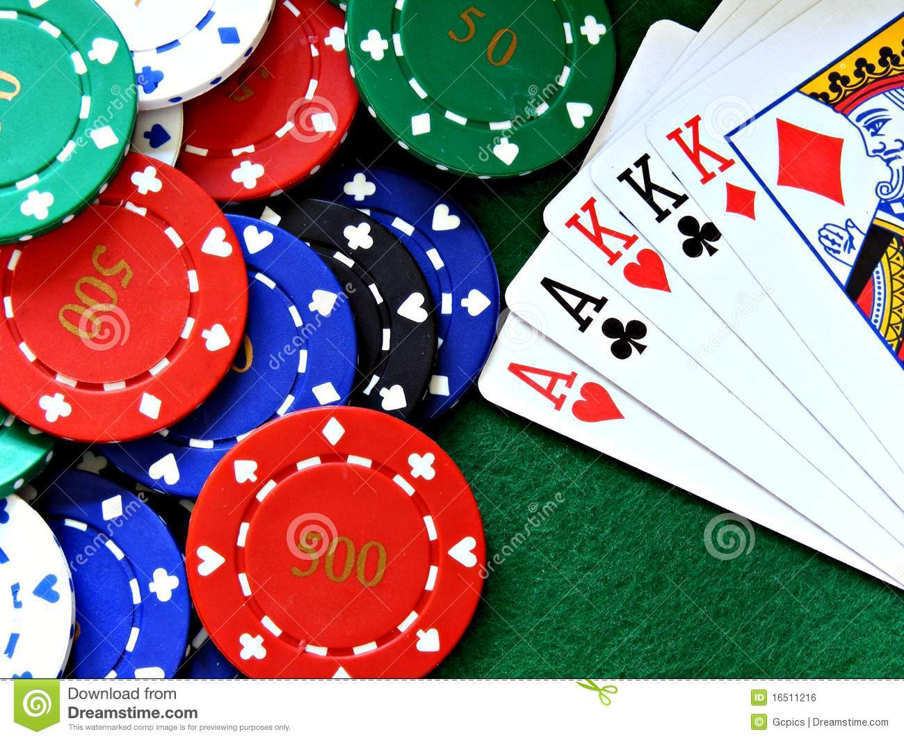 Poker table felt background poker chips amp full house cards