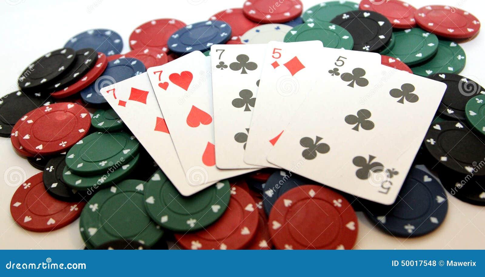 Poker chips and full house